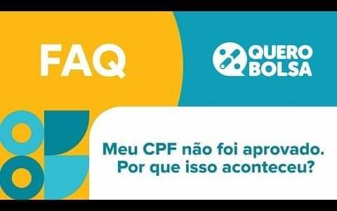 CPF não aprovado